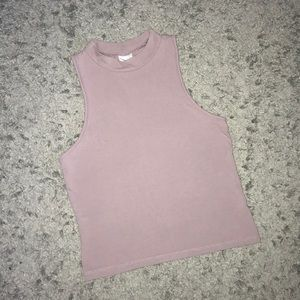 Tops - high neck crop top